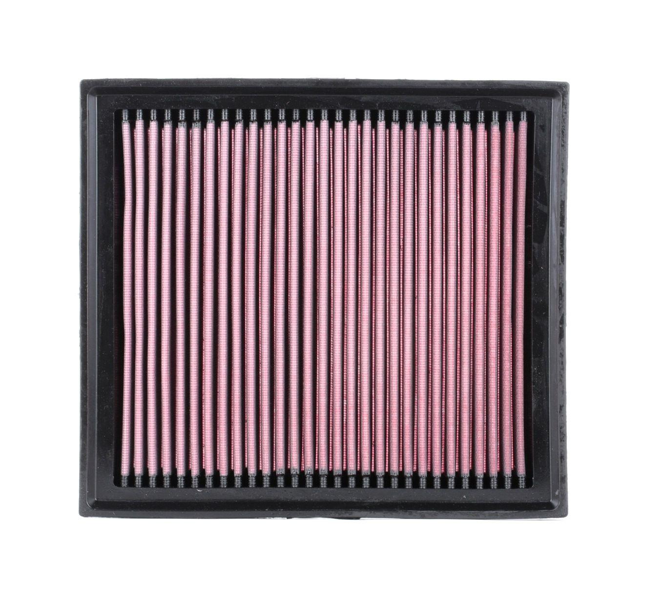 K&N Filters: Original Motorluftfilter 33-2962 (Länge: 289mm, Länge: 289mm, Breite: 257mm, Höhe: 41mm)
