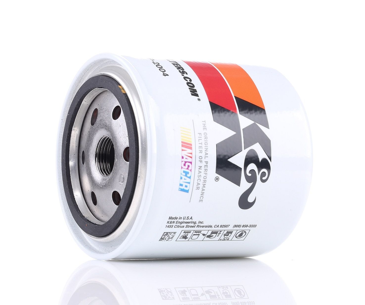 Origine Filtre à huile K&N Filters HP-2004 (Ø: 93mm, Ø: 93mm, Hauteur: 102mm)