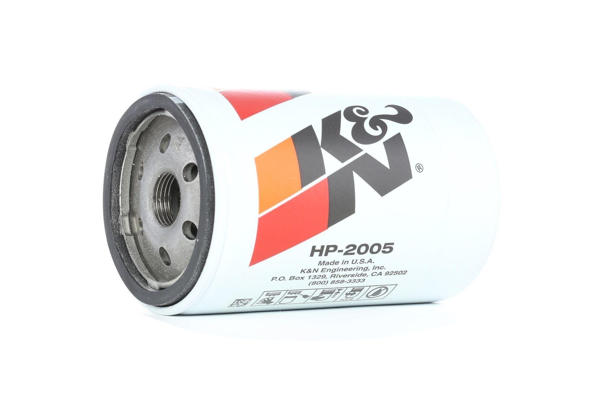 Achetez Filtre à huile K&N Filters HP-2005 (Ø: 76mm, Ø: 76mm, Hauteur: 129mm) à un rapport qualité-prix exceptionnel
