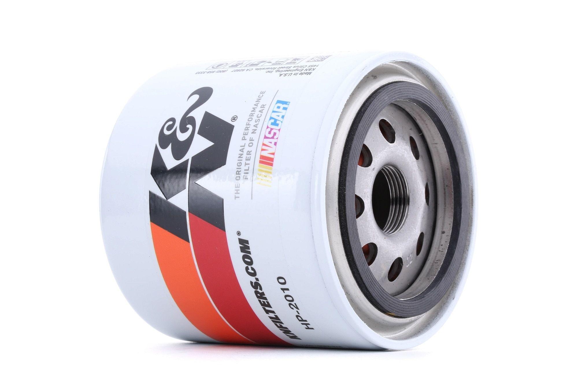 Origine Filtre à huile K&N Filters HP-2010 (Ø: 93mm, Ø: 93mm, Hauteur: 102mm)