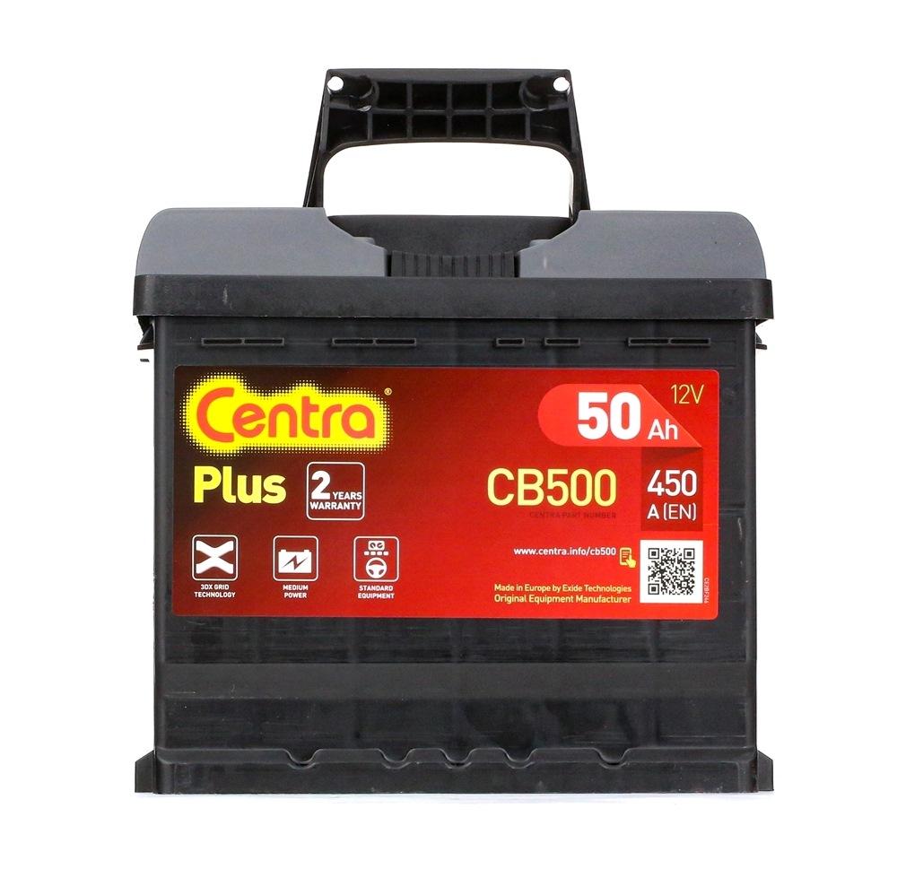 Achetez Système électrique CENTRA CB500 (Courant d'essai à froid, EN: 450A, Volt: 12V, Disposition pôles: 0) à un rapport qualité-prix exceptionnel