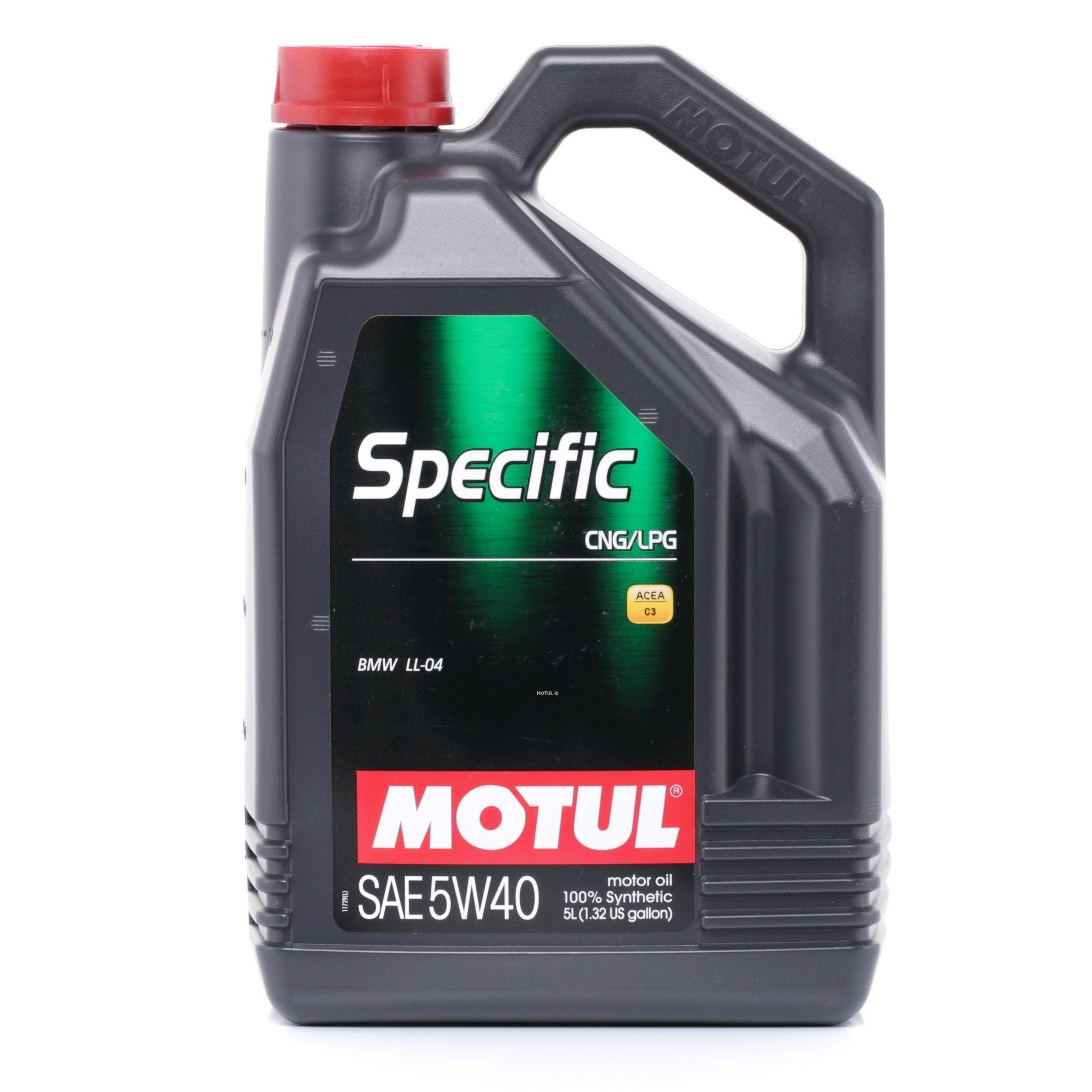 5W40 MOTUL SPECIFIC, CNG/LPG 5W-40, 5l, Synthetiköl Motoröl 101719 günstig kaufen