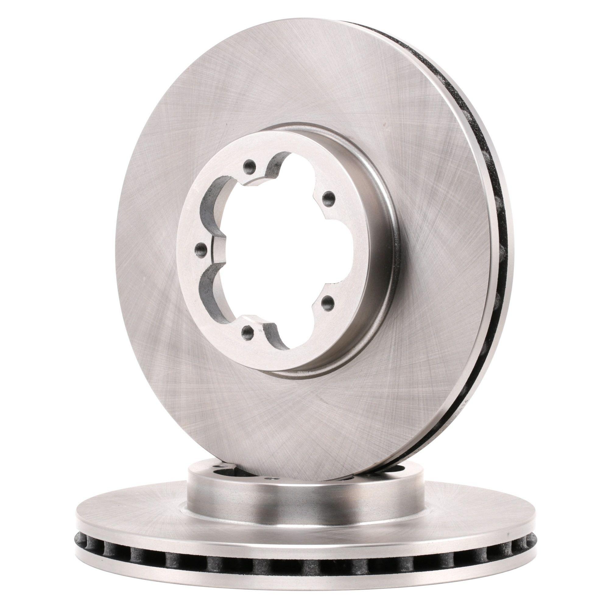 Купете DDF1555C FERODO PREMIER вентилиран, без винтове Ø: 300мм, брой на дупките: 5, дебелина на спирачния диск: 28мм Спирачен диск DDF1555 евтино