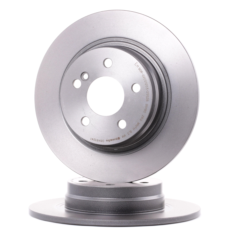 Kit dischi freno 08.A612.41 con un ottimo rapporto BREMBO qualità/prezzo