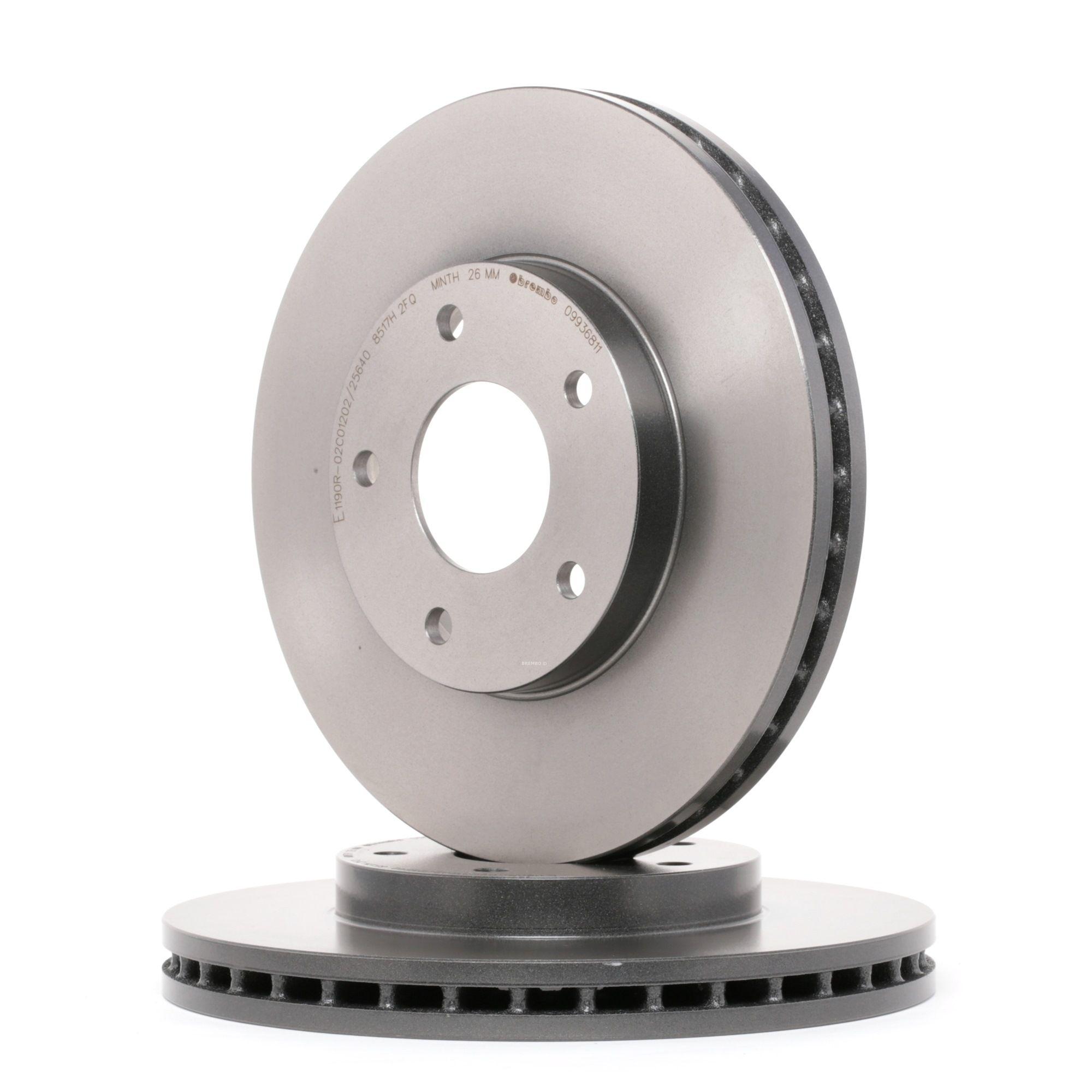09.9368.11 BREMBO COATED DISC LINE Innenbelüftet, beschichtet Ø: 280mm, Lochanzahl: 5, Bremsscheibendicke: 28mm Bremsscheibe 09.9368.11 günstig kaufen