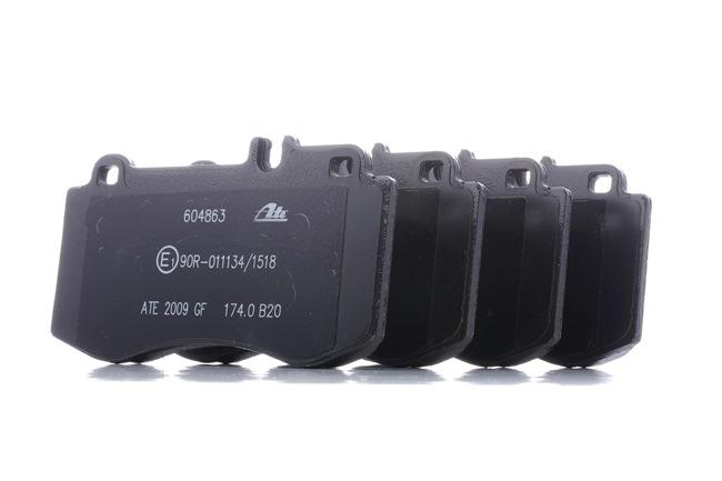 ATE: Original Bremsbelagsatz Scheibenbremse 13.0460-4863.2 (Höhe: 79,8mm, Breite: 141,5mm, Dicke/Stärke: 17,5mm) mit vorteilhaften Preis-Leistungs-Verhältnis