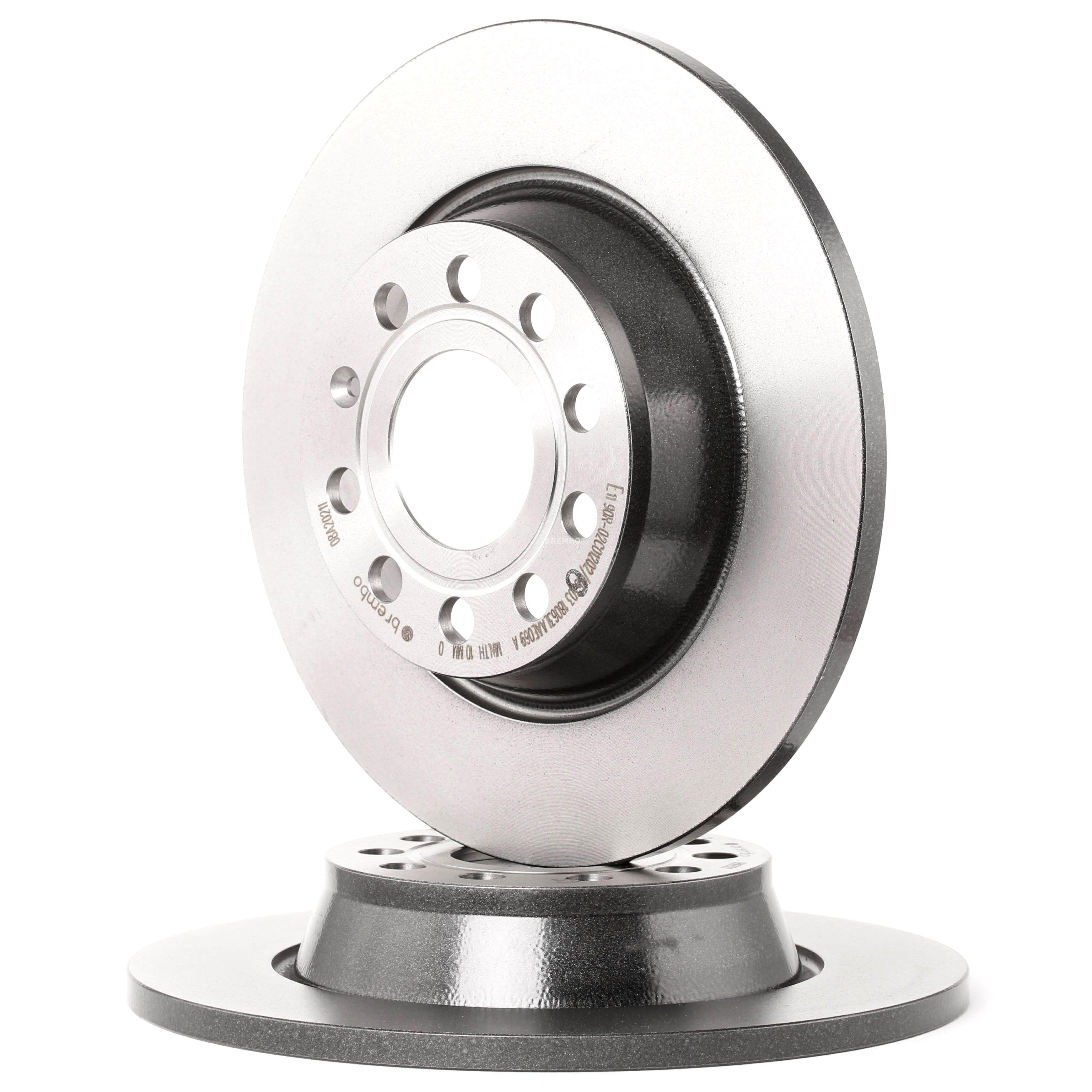 Achetez Disque de frein BREMBO 08.A202.11 (Ø: 282mm, Nbre de trous: 5, Épaisseur du disque de frein: 12mm) à un rapport qualité-prix exceptionnel