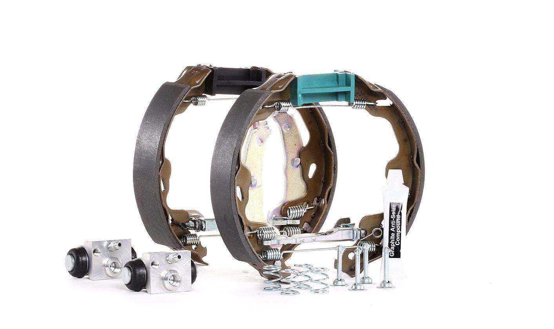 37534 FEBI BILSTEIN Hinterachse, mit Radbremszylinder, mit Zubehör, ohne integrierten Regler Bremsensatz, Trommelbremse 37534 günstig kaufen