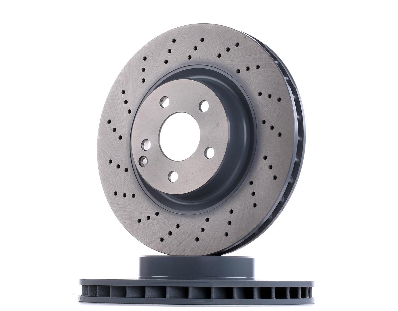 of Holes 5 febi bilstein 37725 Brake Disc 1 Brake Disc front No perforated // internally ventilated