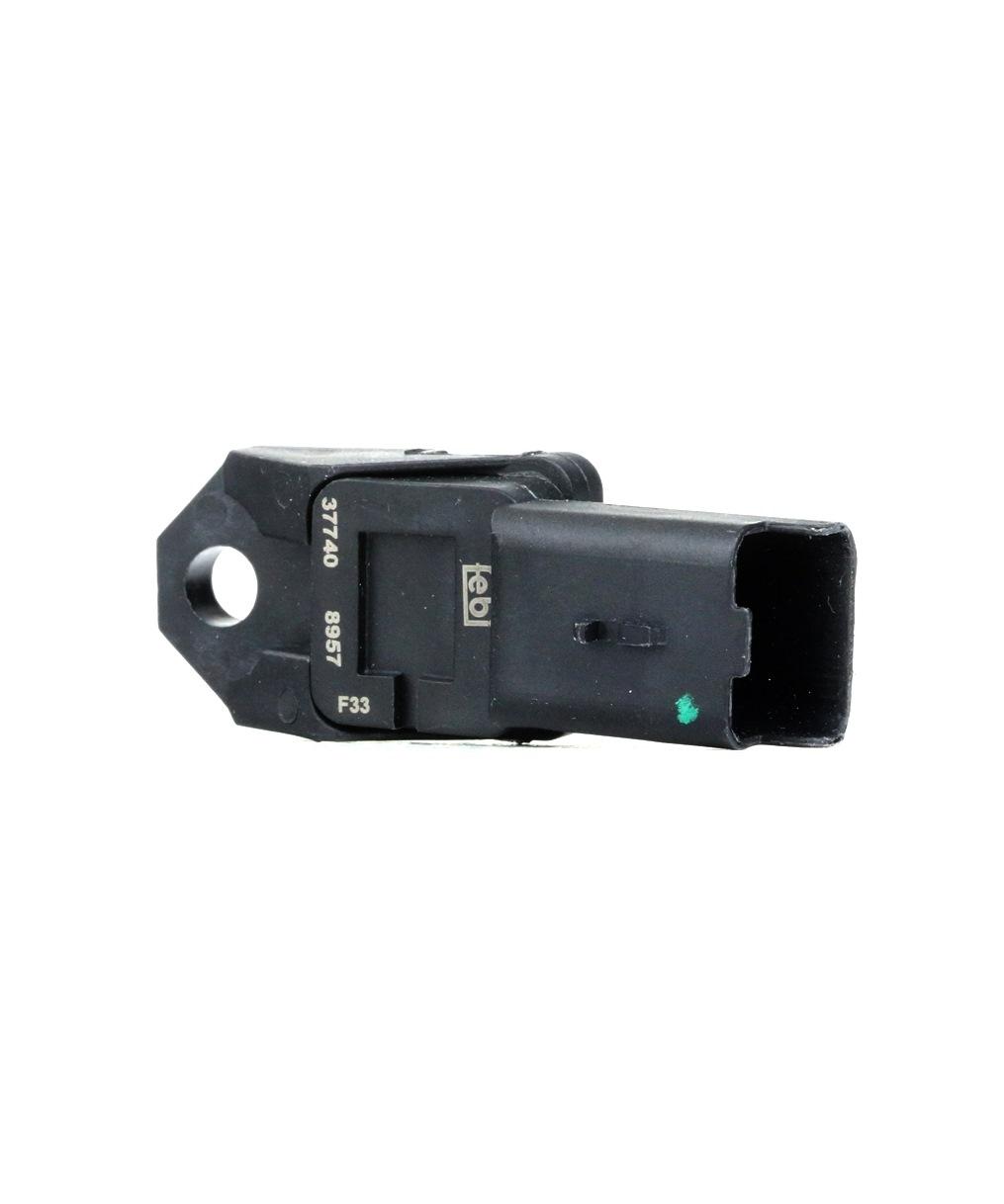 FORD FOCUS 2018 Sensor, Saugrohrdruck - Original FEBI BILSTEIN 37740 Anschlussanzahl: 3