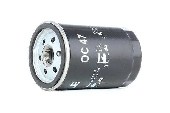 Pieces detachees VOLKSWAGEN GOL 2019 : Filtre à huile MAHLE ORIGINAL OC 47 Diamètre intérieur 2: 62mm, Diamètre extérieur 2: 72mm, Ø: 76,0mm, Hauteur: 120mm - Achetez tout de suite!