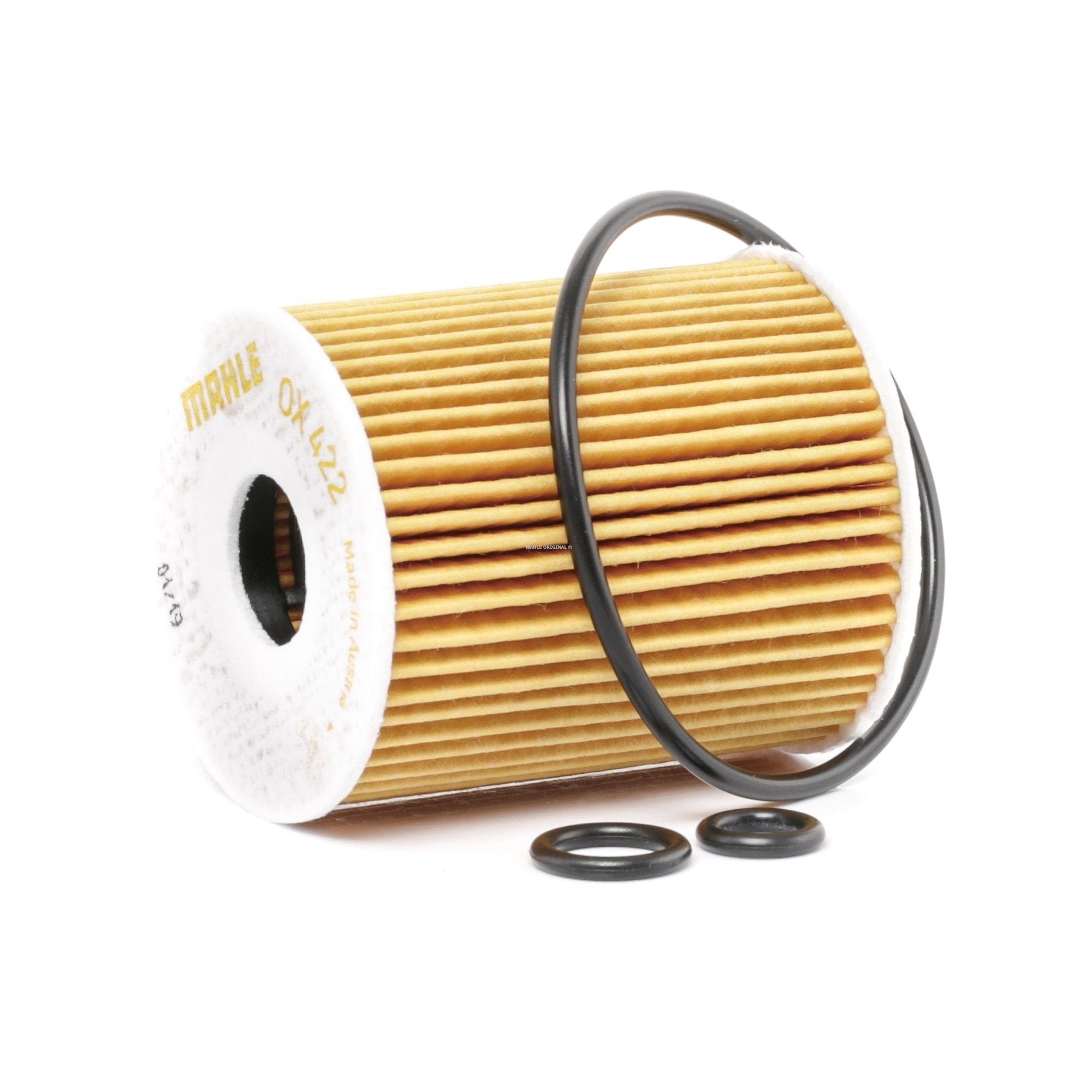 OX422DECO MAHLE ORIGINAL Filtereinsatz Innendurchmesser 2: 22mm, Innendurchmesser 2: 22mm, Ø: 65,0mm, Ø: 65,0mm, Höhe: 76mm Ölfilter OX 422D günstig kaufen