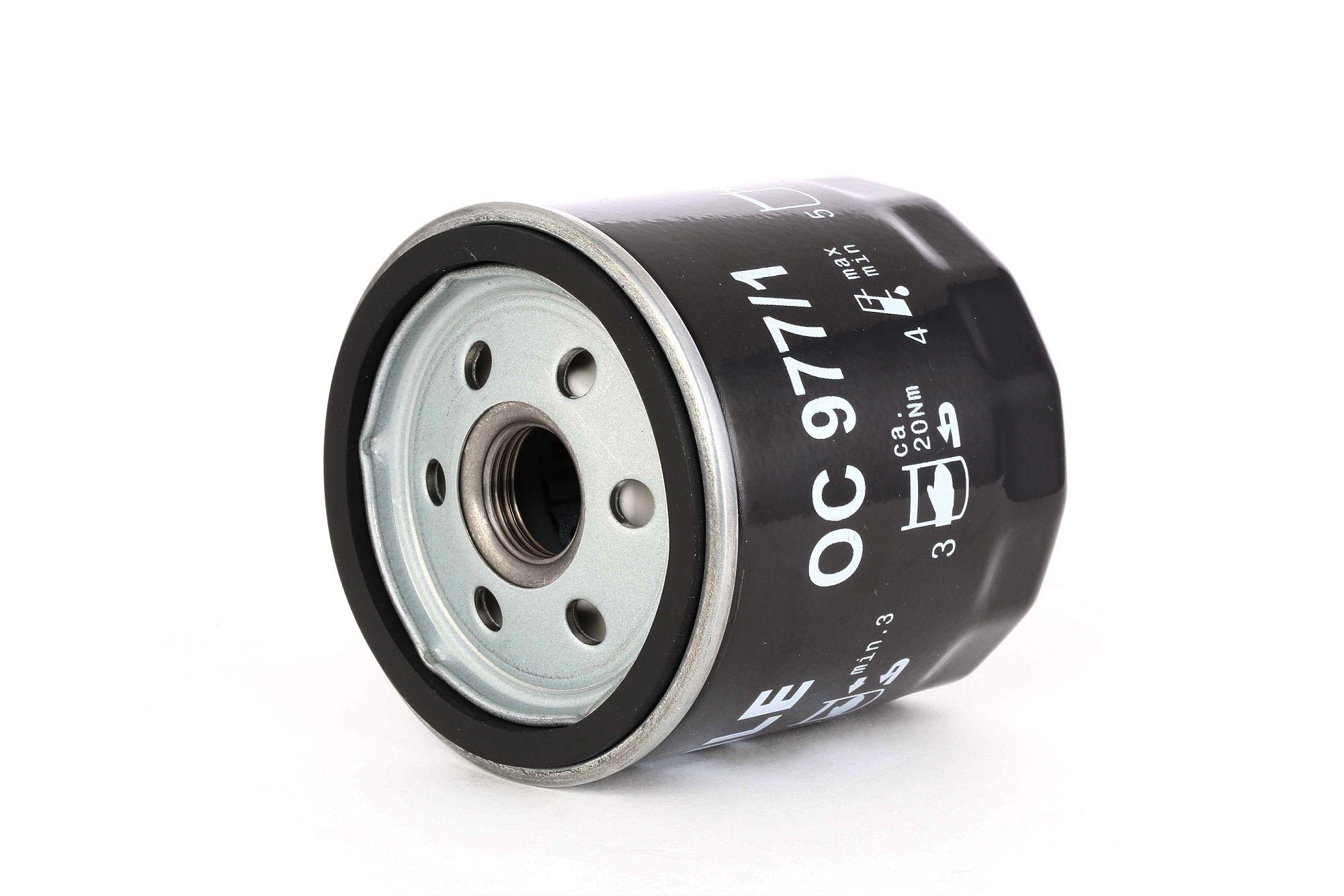 Achetez Filtre à huile MAHLE ORIGINAL OC 977/1 (Diamètre intérieur 2: 62mm, Diamètre intérieur 2: 62mm, Ø: 76,0mm, Diamètre extérieur 2: 71mm, Ø: 76,0mm, Hauteur: 79mm) à un rapport qualité-prix exceptionnel