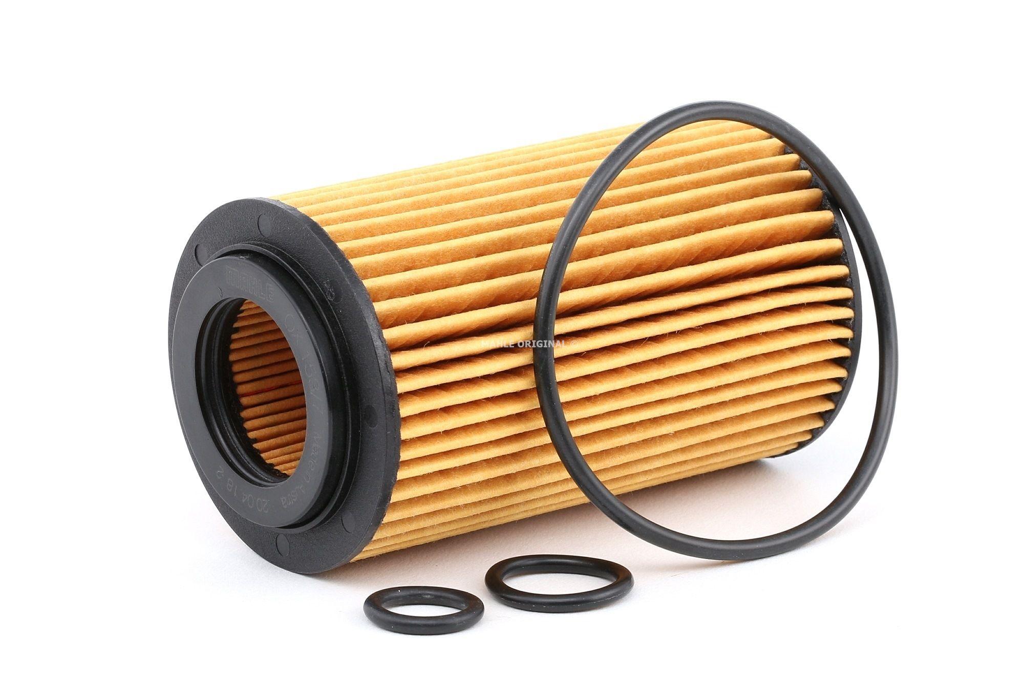 79922119 MAHLE ORIGINAL Filtereinsatz Innendurchmesser 2: 31mm, Ø: 64,3mm, Höhe: 115mm, Höhe 1: 105mm Ölfilter OX 153/7D2 kaufen