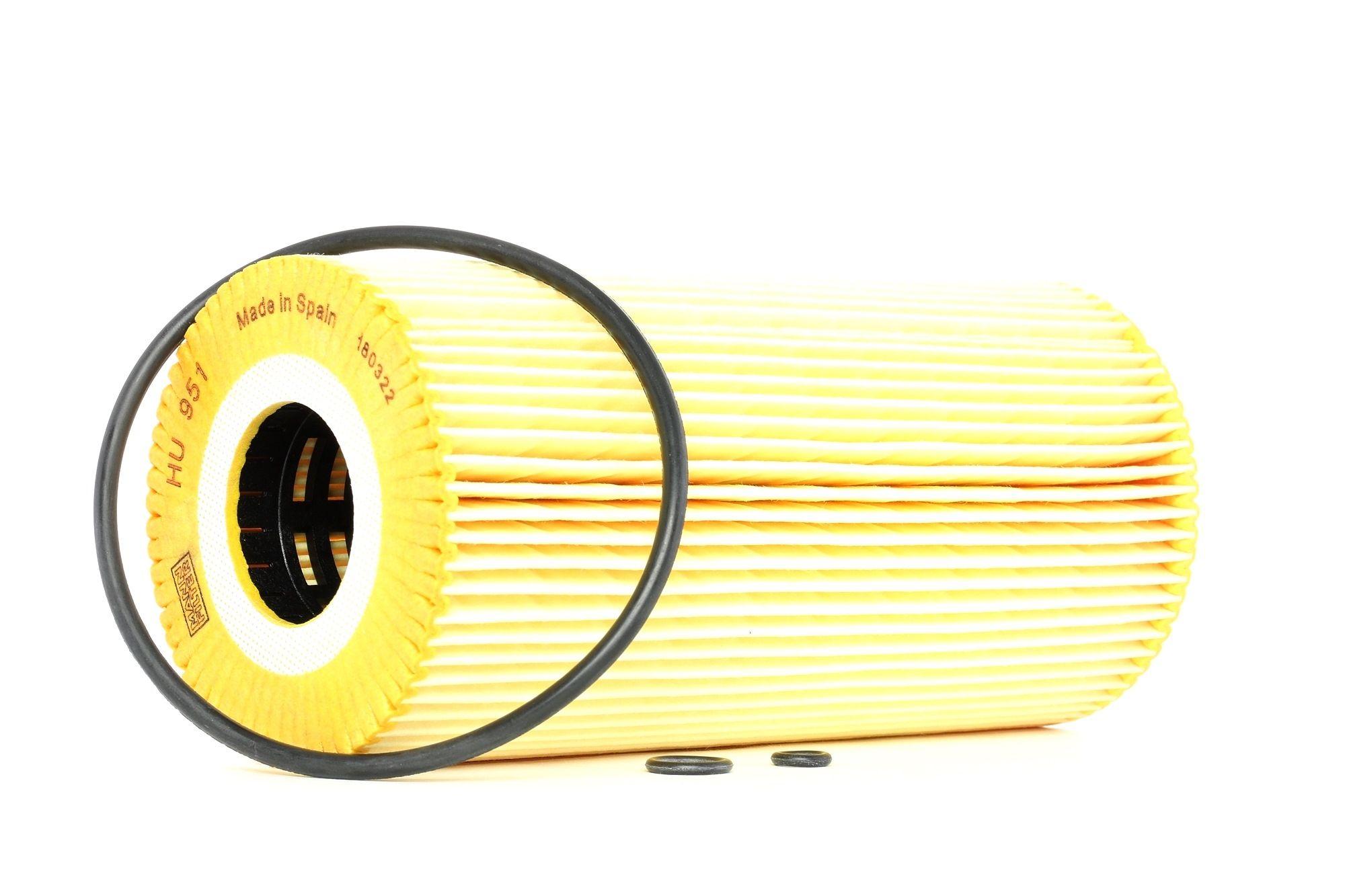 Origine Filtre à huile MANN-FILTER HU 951 x (Diamètre intérieur: 36mm, Diamètre intérieur 2: 36mm, Ø: 83mm, Hauteur: 169mm)