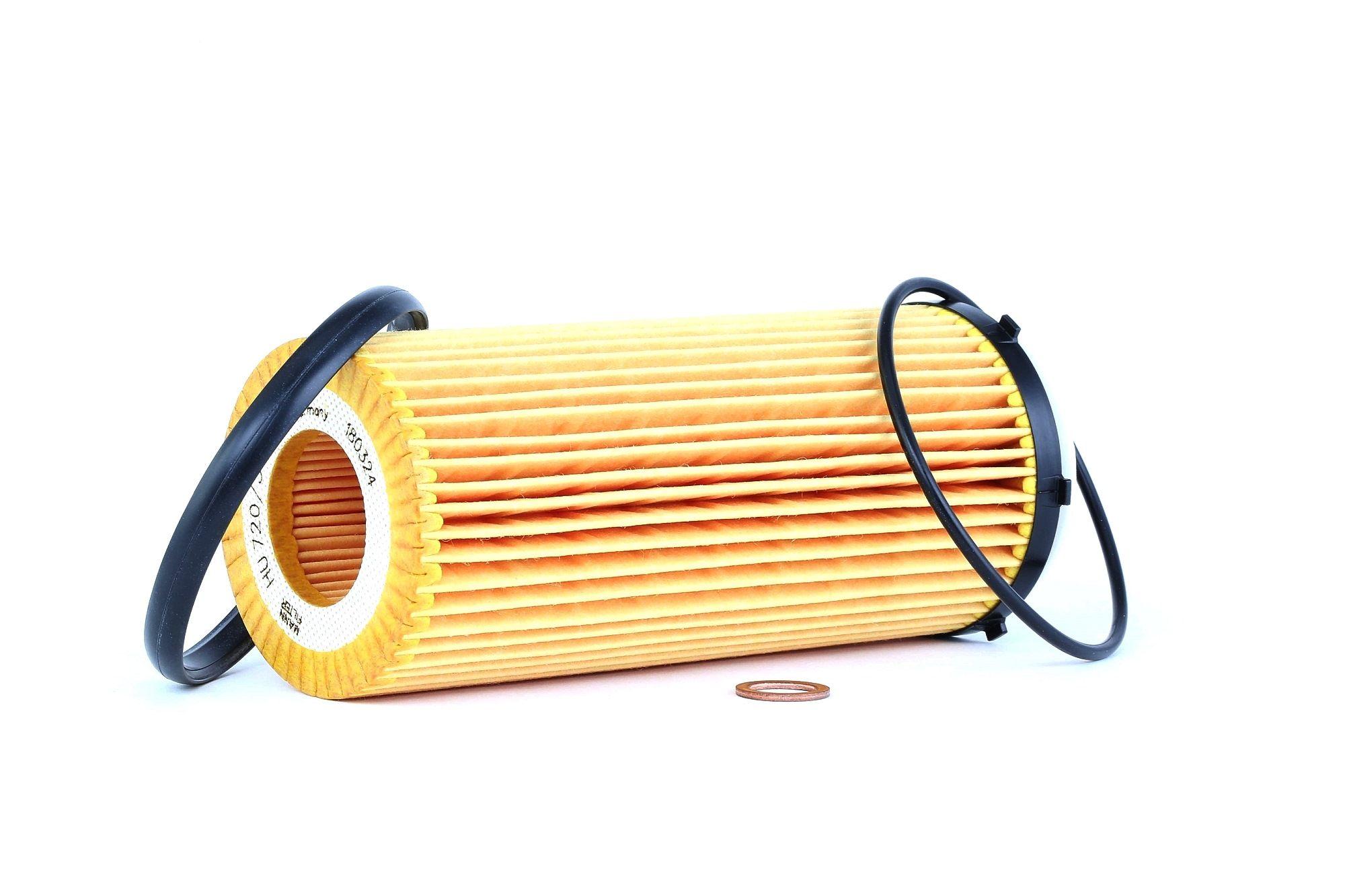 HU 720/3 x MANN-FILTER mit Dichtungen, Filtereinsatz Innendurchmesser: 28mm, Innendurchmesser 2: 31mm, Ø: 63mm, Höhe: 155mm Ölfilter HU 720/3 x günstig kaufen