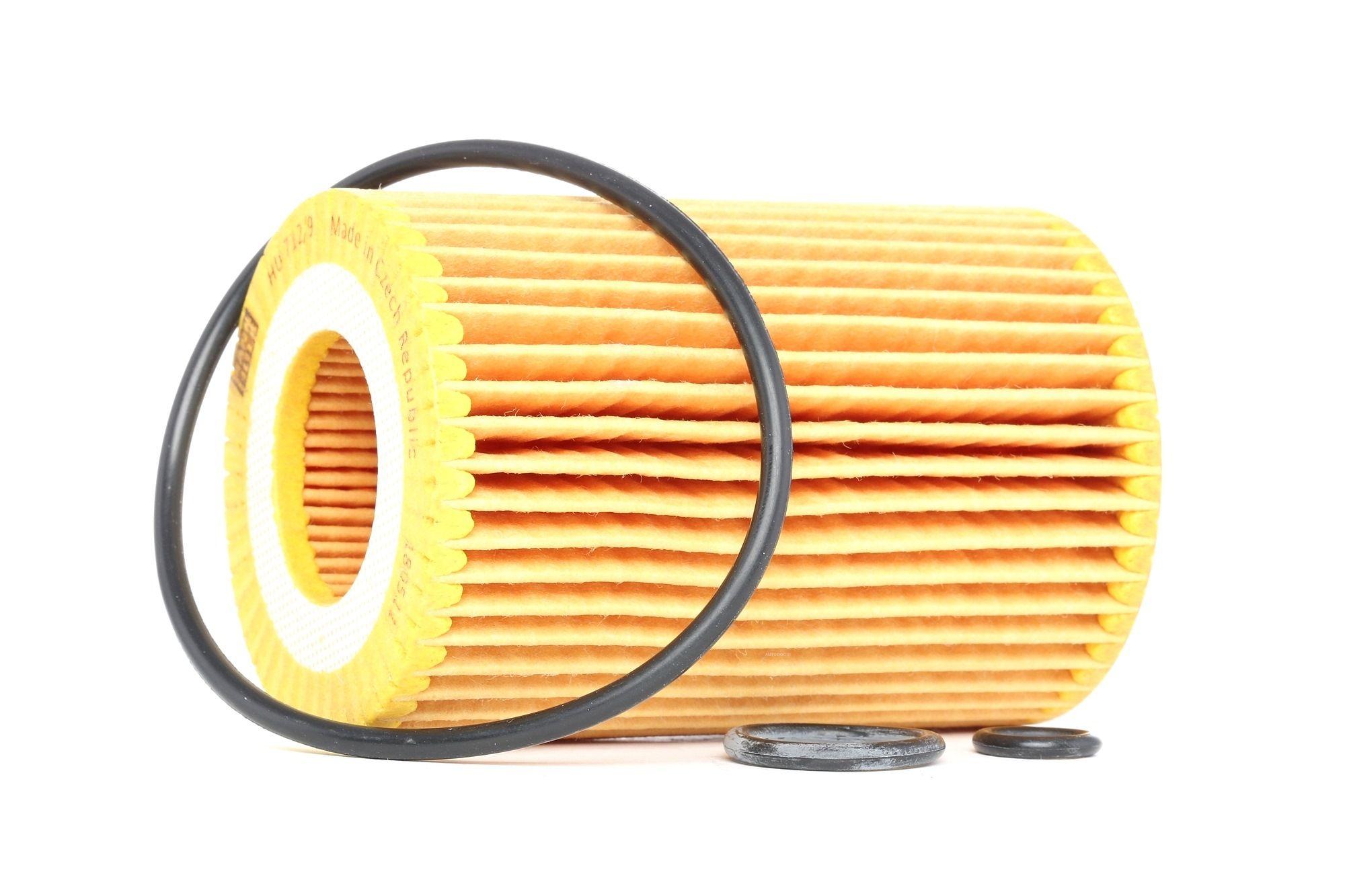 MANN-FILTER: Original Ölfilter HU 712/9 x (Innendurchmesser: 31mm, Innendurchmesser 2: 31mm, Ø: 64mm, Höhe: 94mm)