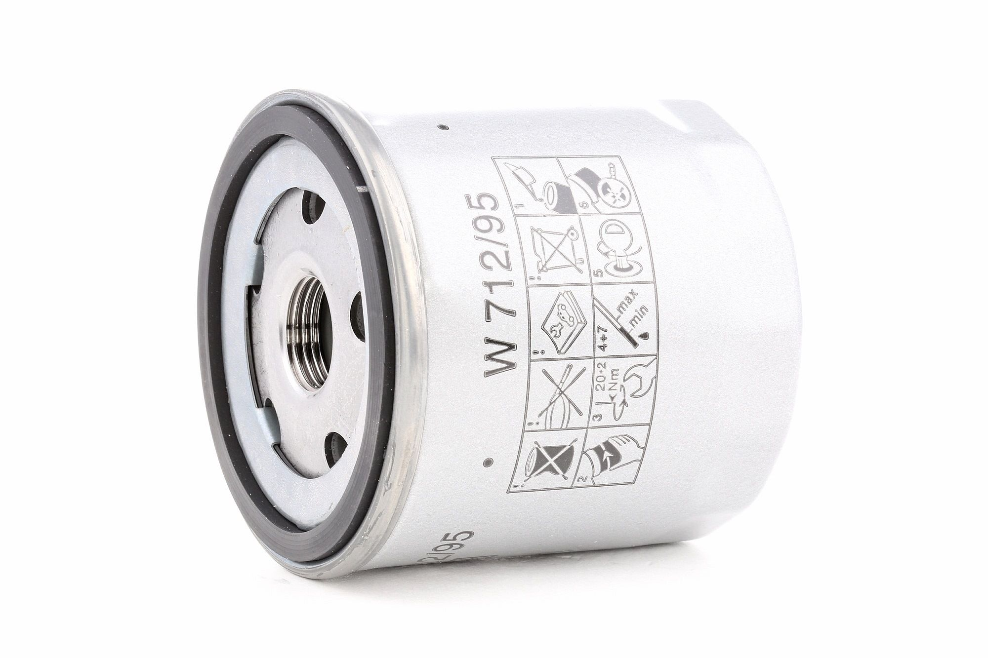 W 712/95 MANN-FILTER Skrutkovací filter, s jednym spätným ventilom Vnútorný priemer 2: 63mm, Ø: 76mm, Vonkajżí priemer 2: 72mm, Výżka: 79mm Olejový filter W 712/95 kúpte si lacno