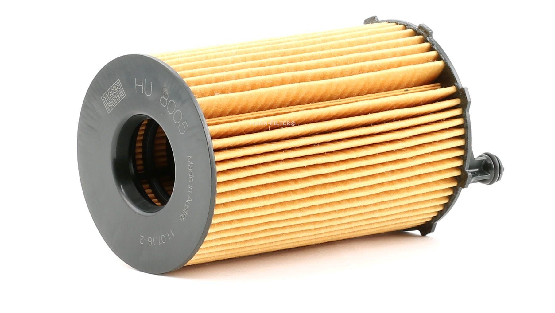 PORSCHE 356 1964 Motorölfilter - Original MANN-FILTER HU 8005 z Innendurchmesser: 29mm, Innendurchmesser 2: 29mm, Ø: 76mm, Höhe: 128mm