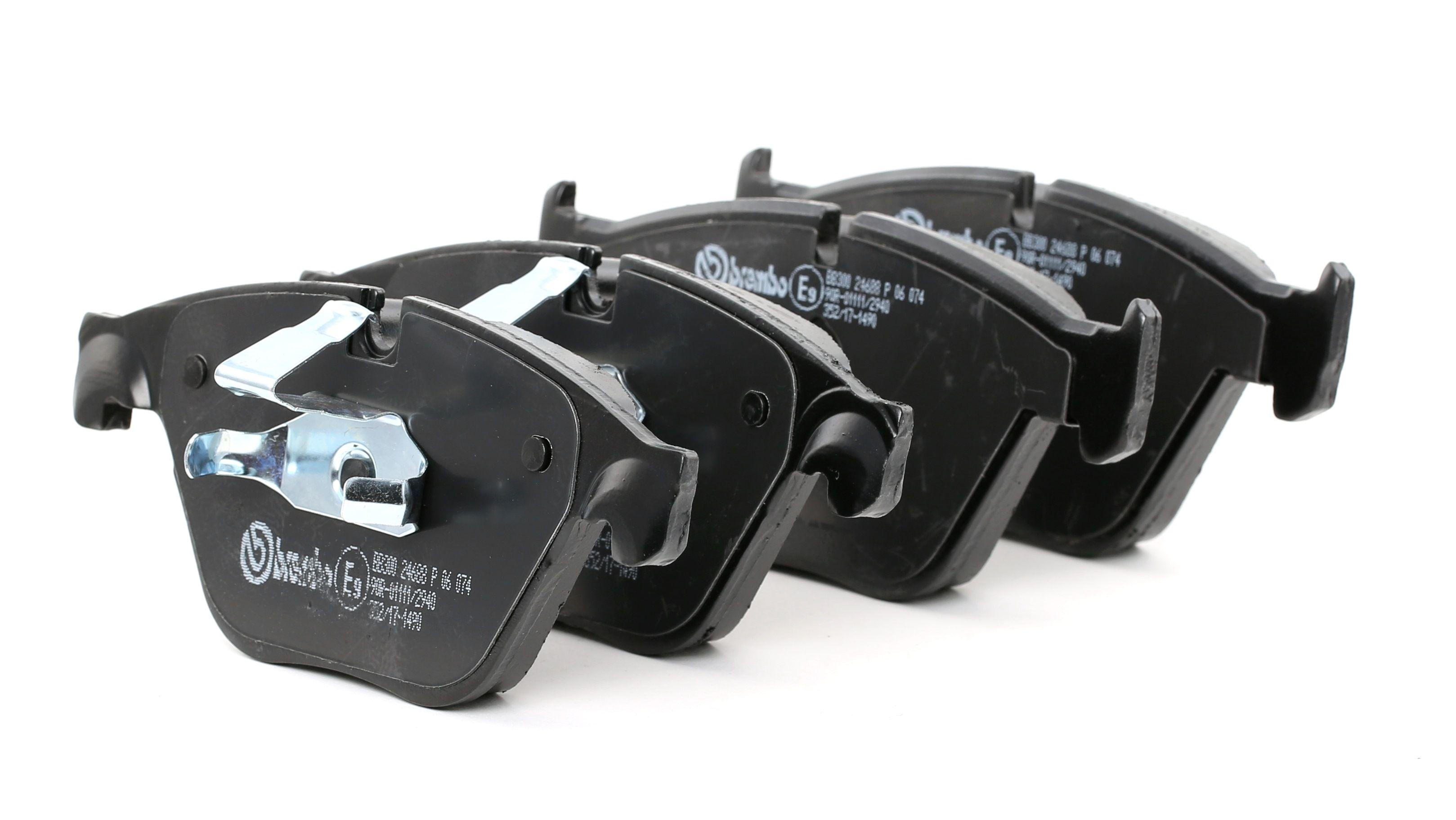 D15058706 BREMBO für Verschleißwarnanzeiger vorbereitet Höhe 1: 68,1mm, Höhe 2: 68,4mm, Breite 1: 155mm, Breite 2: 155,3mm, Dicke/Stärke 1: 19,2mm, Dicke/Stärke 2: 20,3mm Bremsbelagsatz, Scheibenbremse P 06 074 günstig kaufen