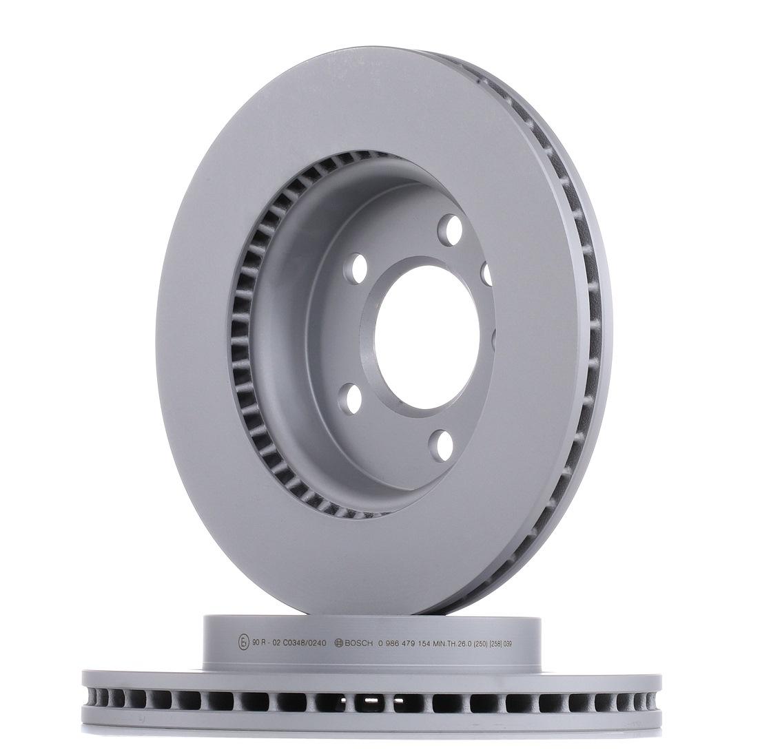 Achetez Disque de frein BOSCH 0 986 479 154 (Ø: 303mm, Nbre de trous: 5, Épaisseur du disque de frein: 28mm) à un rapport qualité-prix exceptionnel