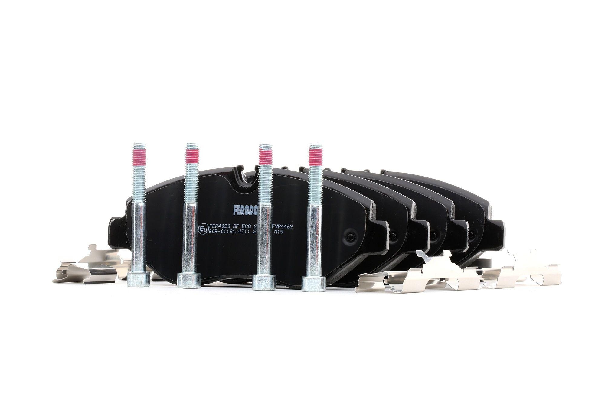 Bremsbeläge MERCEDES-BENZ Marco Polo Camper (W447) hinten + vorne 2016 - FERODO FVR4469 (Höhe 1: 67mm, Dicke/Stärke: 20,8mm)