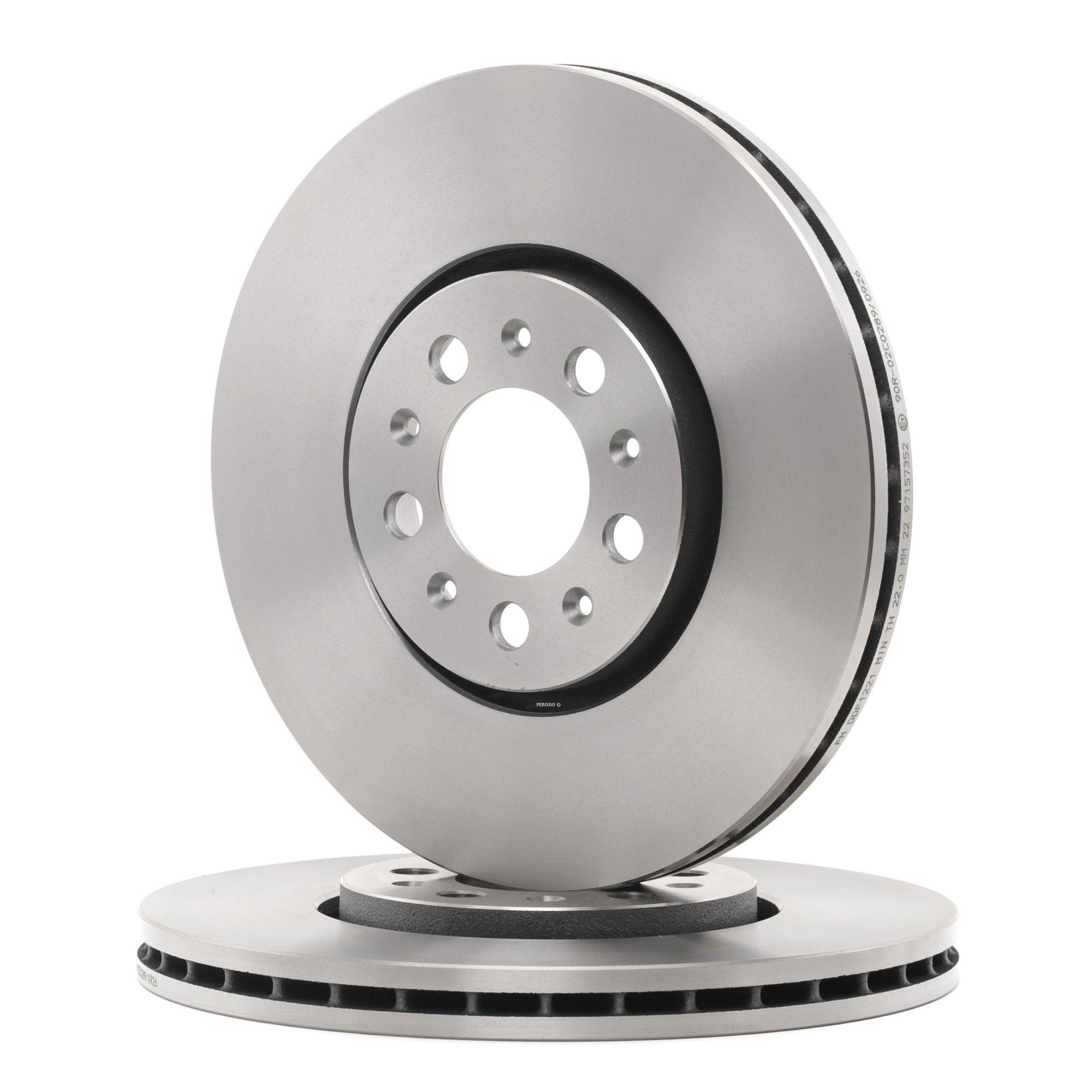 Achetez Disque FERODO DDF1221 (Ø: 288mm, Nbre de trous: 5, Épaisseur du disque de frein: 25mm) à un rapport qualité-prix exceptionnel