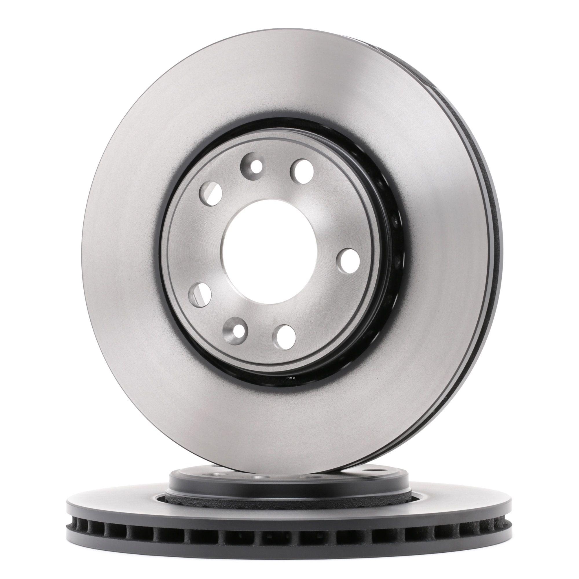 DF6184 TRW belüftet, lackiert Ø: 296mm, Lochanzahl: 5, Bremsscheibendicke: 26mm Bremsscheibe DF6184 günstig kaufen