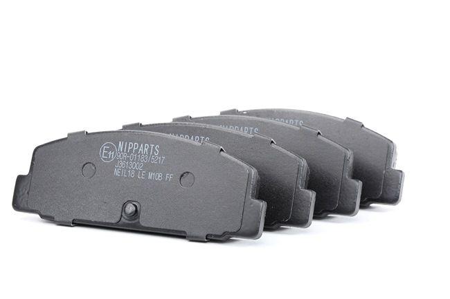 NIPPARTS: Original Bremsklötze J3613002 (Höhe: 39,4mm, Breite: 39,5mm, Dicke/Stärke: 13,1mm)
