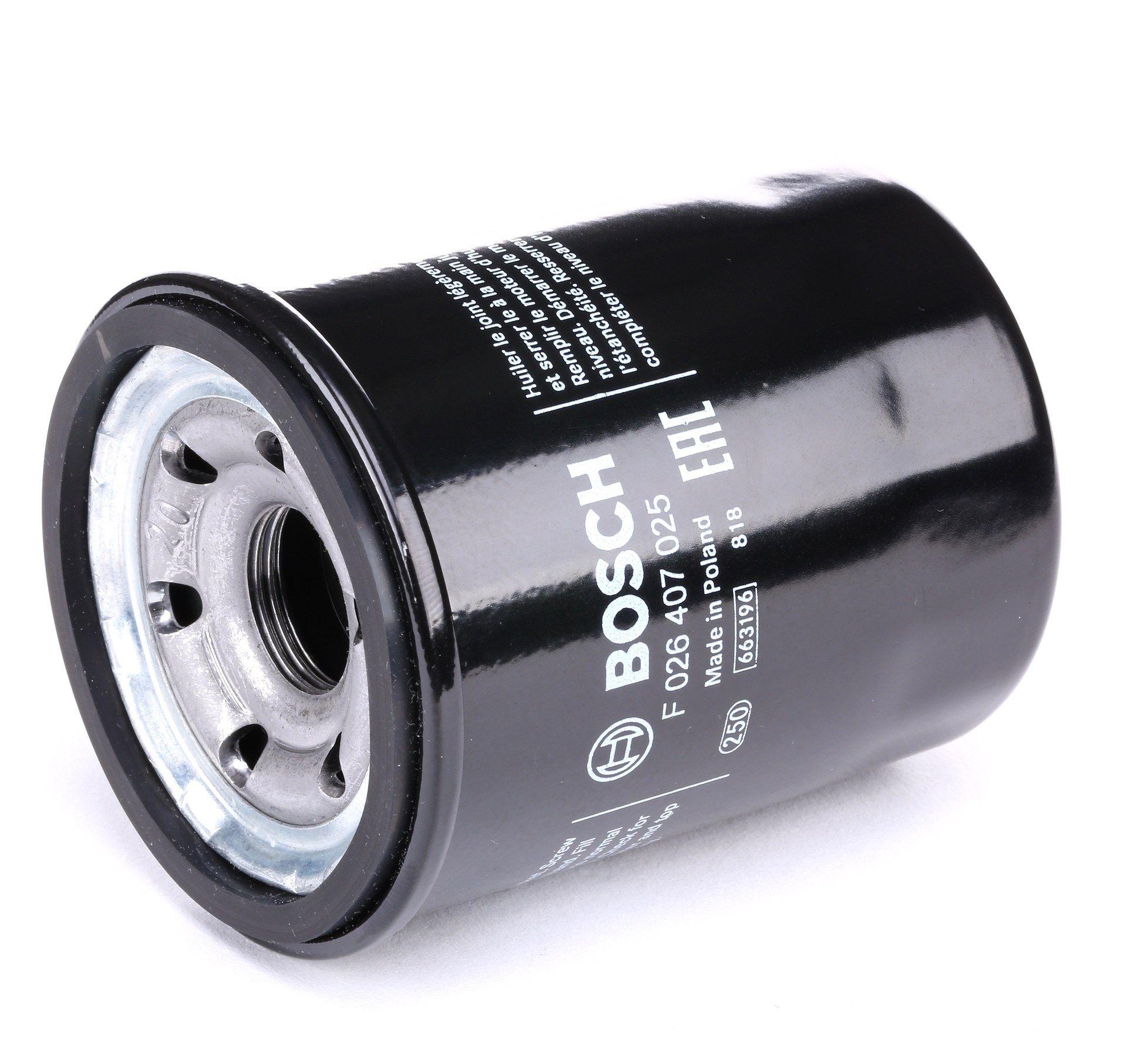 BOSCH: Original Ölfilter F 026 407 025 (Ø: 70mm, Höhe: 86,2mm)
