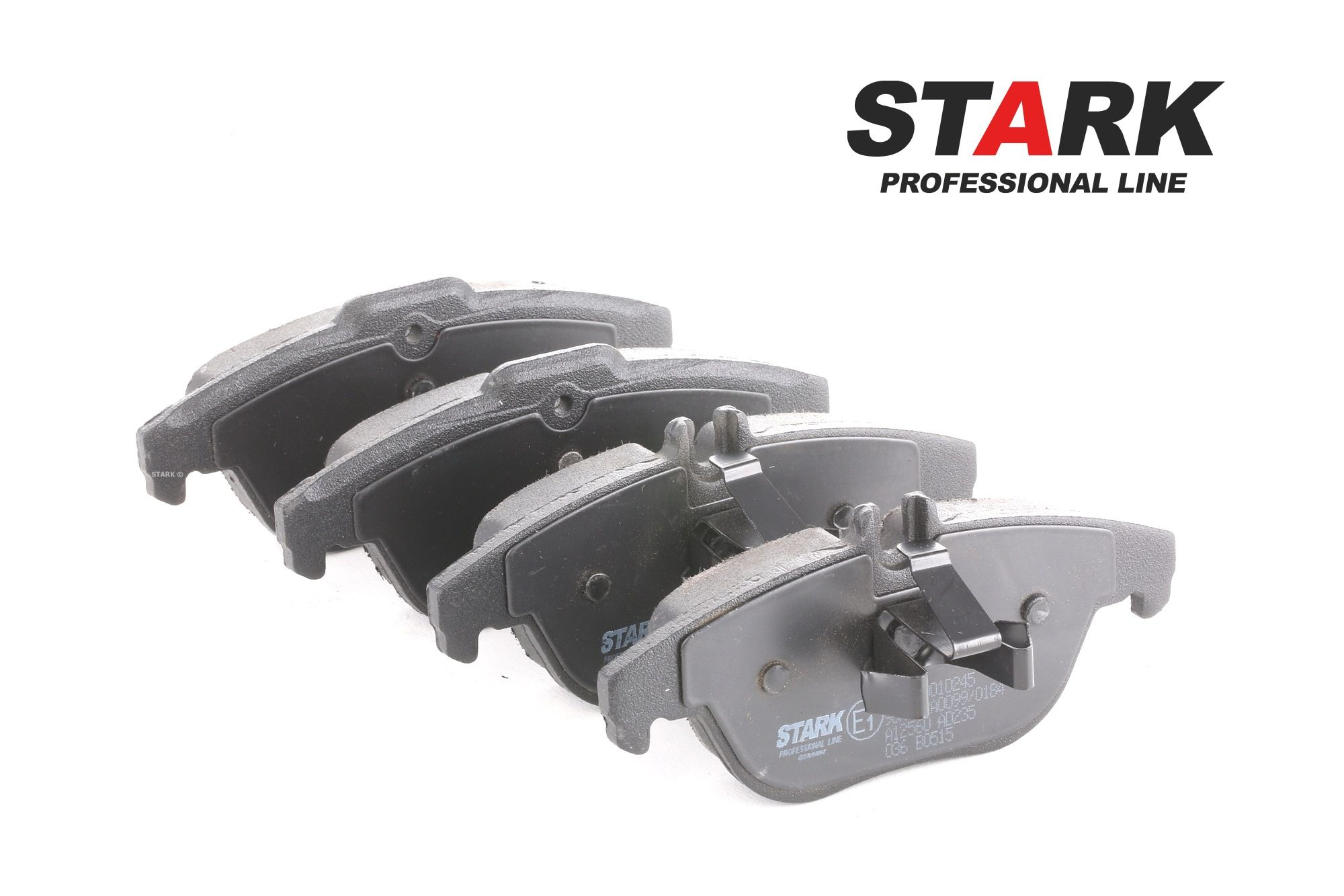 MERCEDES-BENZ GLK 2008 Bremsbelagsatz - Original STARK SKBP-0010245 Höhe: 52,4, 54,6mm, Breite: 122,5mm, Dicke/Stärke 1: 17,6mm