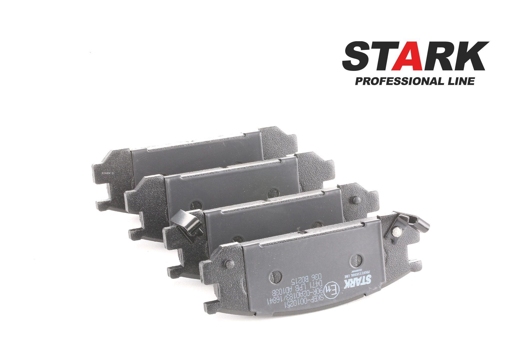 SUBARU SVX 1996 Bremsbelagsatz - Original STARK SKBP-0010251 Höhe: 38,8mm, Breite: 107,6mm, Dicke/Stärke: 15mm