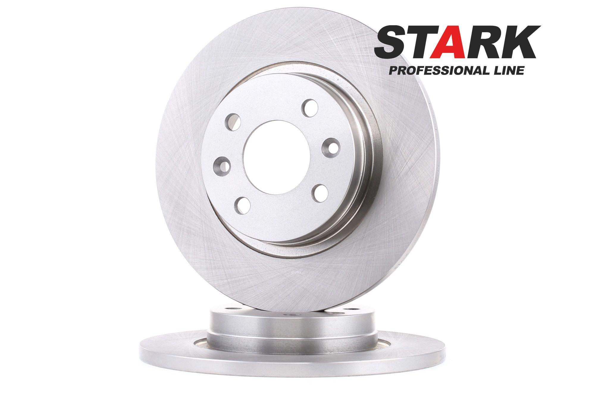 SKBD-0020080 STARK Vorderachse, Voll Ø: 259mm, Lochanzahl: 4, Bremsscheibendicke: 12mm Bremsscheibe SKBD-0020080 günstig kaufen