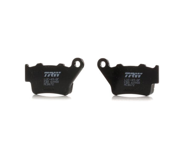 Kit de plaquettes de frein, frein à disque MCB672 à bas prix — achetez maintenant !