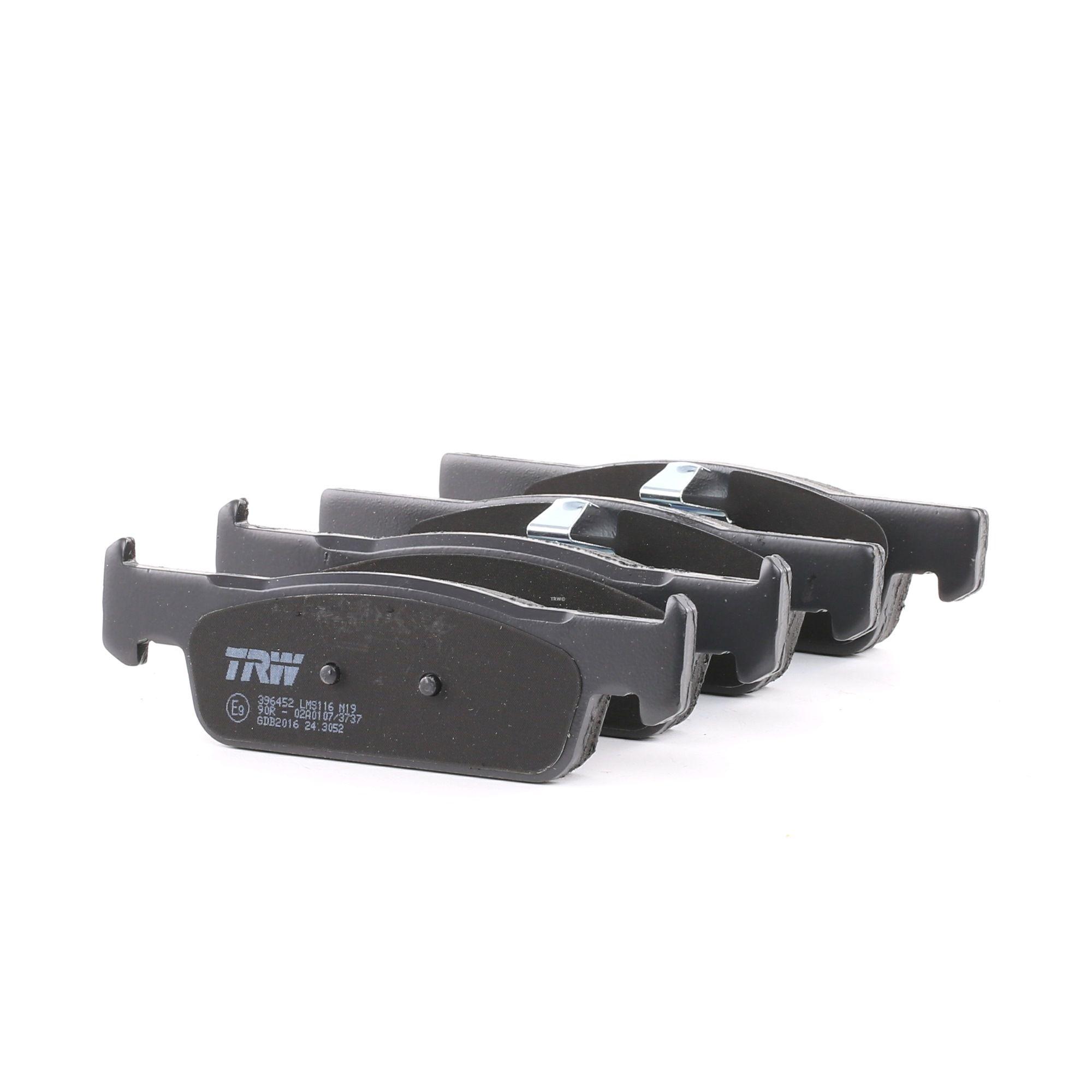 TRW: Original Bremsbelagsatz GDB2016 (Höhe: 42,00mm, Dicke/Stärke: 18,00mm)