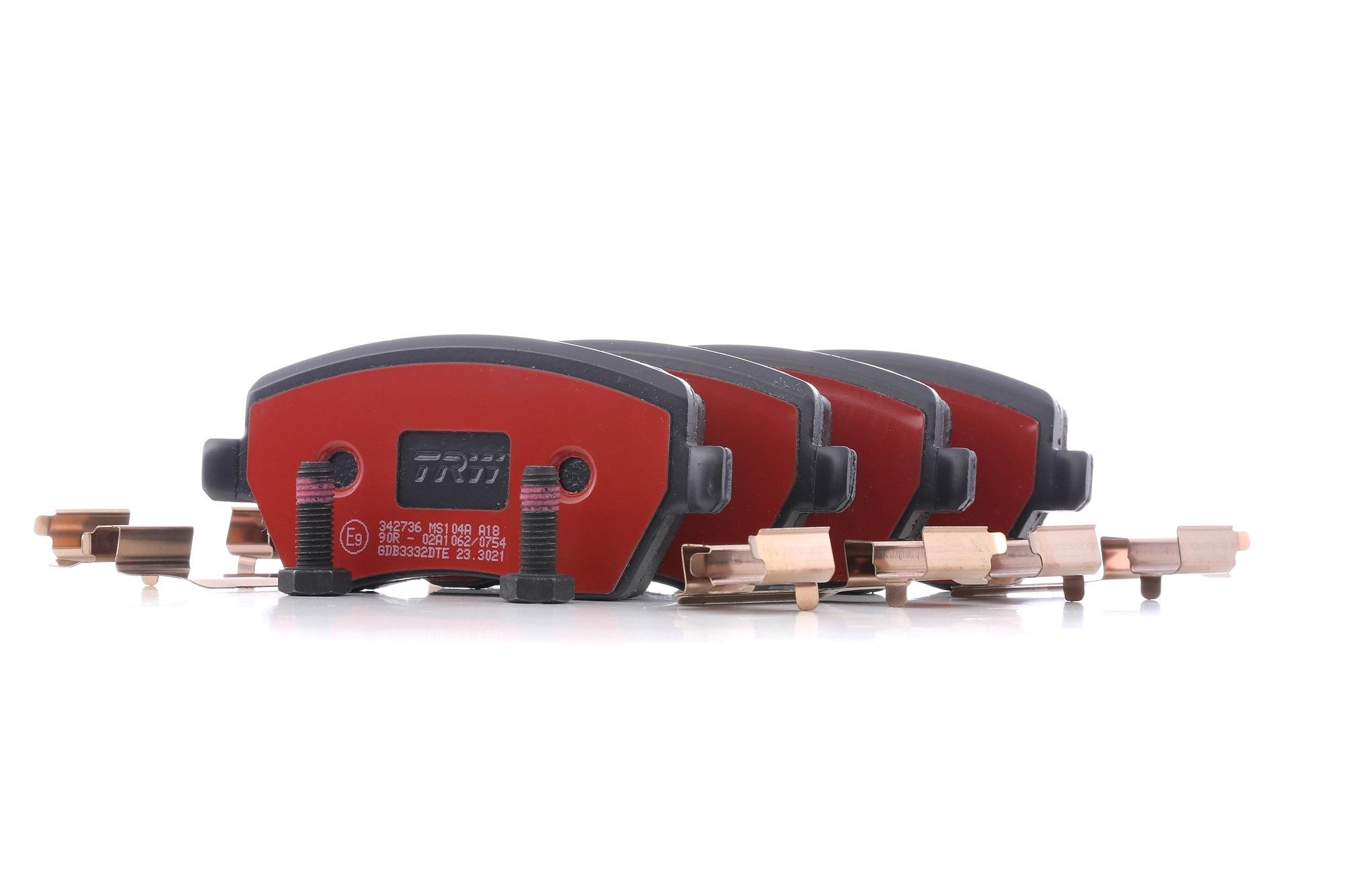 Origine Plaquette de frein sport TRW GDB3332DTE (Hauteur: 52,5mm, Épaisseur: 17,3mm)