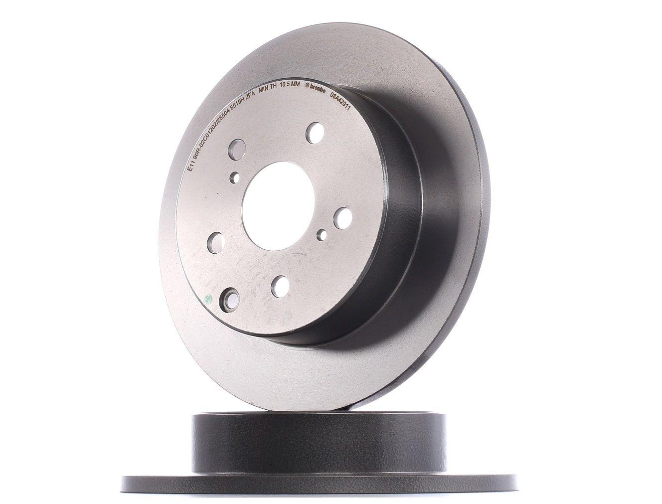 TOYOTA RAV4 2019 Bremsscheiben - Original BREMBO 08.A429.11 Ø: 281mm, Lochanzahl: 5, Bremsscheibendicke: 12mm