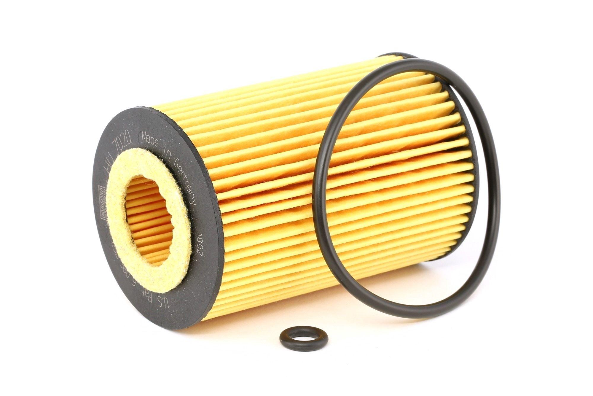 Achetez Filtre à huile MANN-FILTER HU 7020 z (Diamètre intérieur: 21mm, Diamètre intérieur 2: 27mm, Ø: 65mm, Hauteur: 103mm) à un rapport qualité-prix exceptionnel