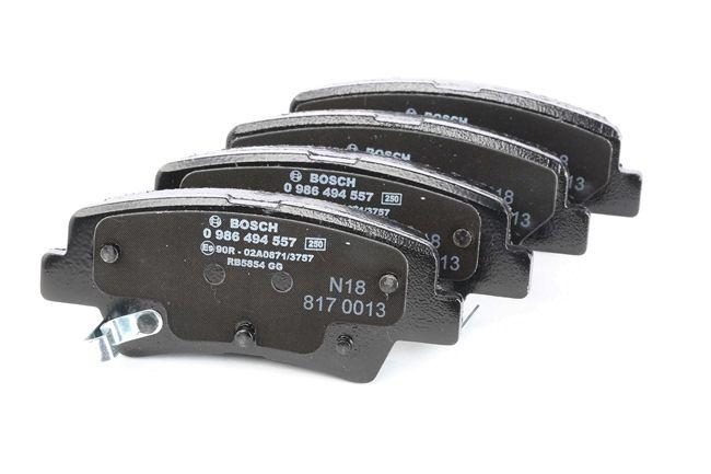 4 Bremsbelagsatz Scheibenbremse BOSCH 0986494557 für SSANGYONG HYUNDAI KIA