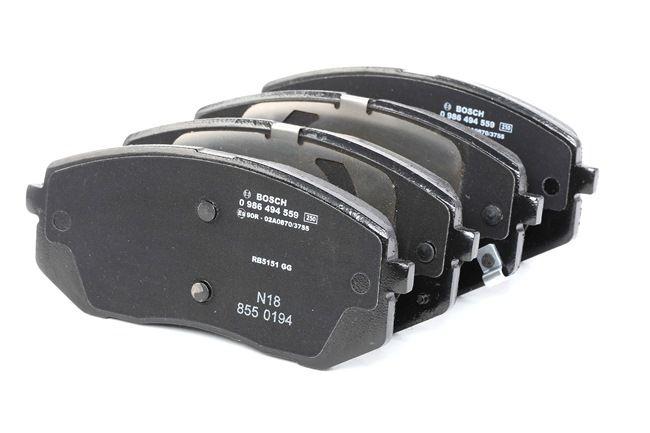 Freno a disco Assale anteriore TUCSON 1 BOSCH 0986494559 Kit pastiglie freno