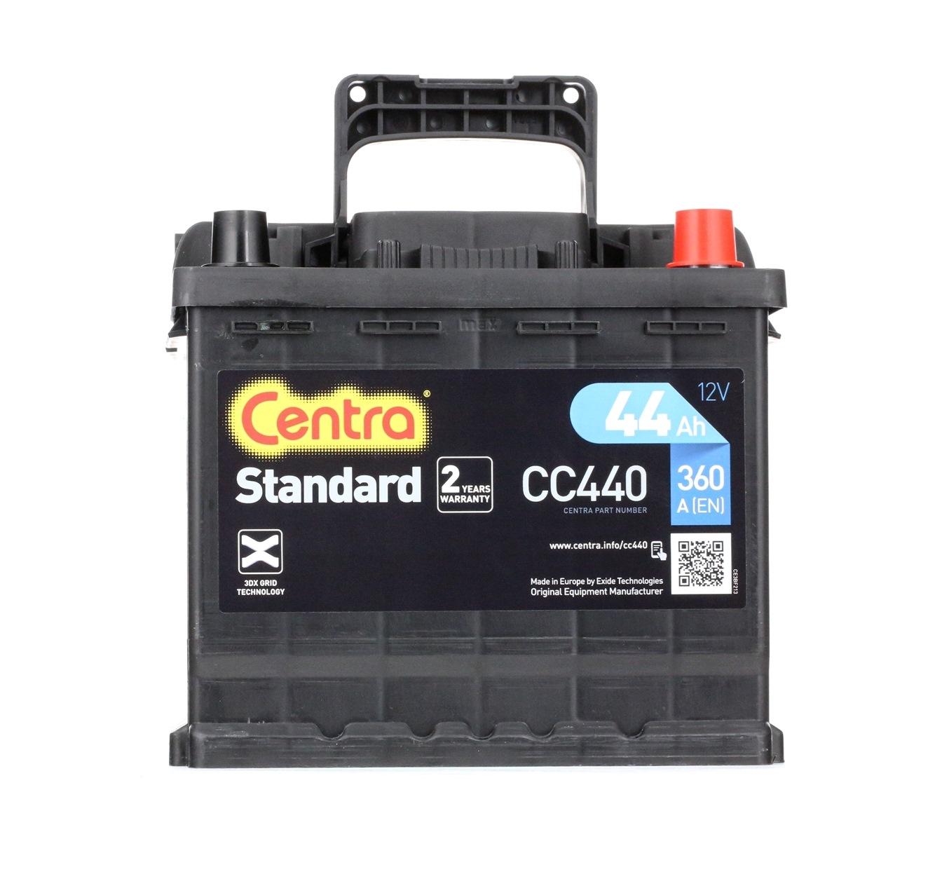 Achetez Électricité auto CENTRA CC440 (Courant d'essai à froid, EN: 360A, Volt: 12V, Disposition pôles: 0) à un rapport qualité-prix exceptionnel