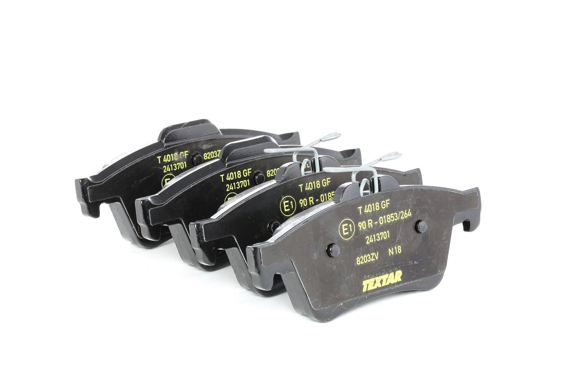 TEXTAR: Original Bremsbelagsatz 2413701 (Höhe: 51,9mm, Breite: 123,2mm, Dicke/Stärke: 16,7mm)