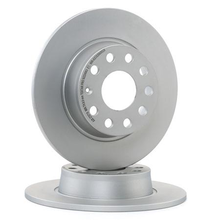 Bremsscheiben Touran 1t1 1t2 hinten und vorne 2008 - TEXTAR 92224903 (Ø: 272mm, Bremsscheibendicke: 10mm)