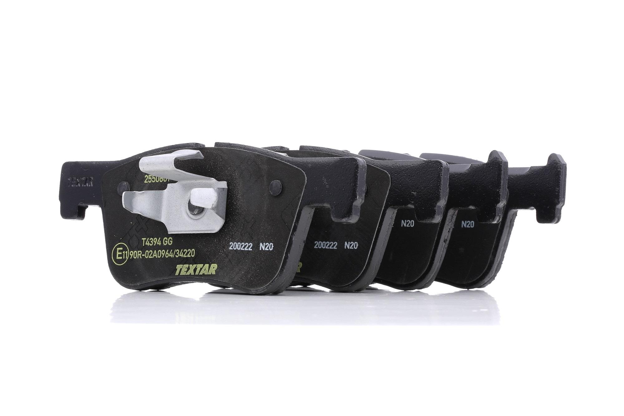 Bremsbelagsatz TEXTAR 2550601