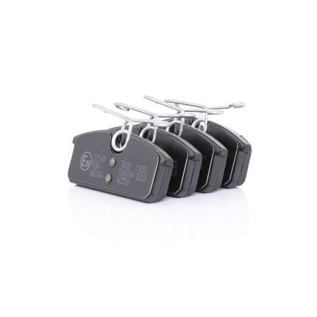 37947 A.B.S. ohne integrierten Verschleißsensor Höhe 1: 26,5mm, Breite 1: 62,5mm, Dicke/Stärke 1: 9,8mm Bremsbelagsatz, Scheibenbremse 37947 günstig kaufen