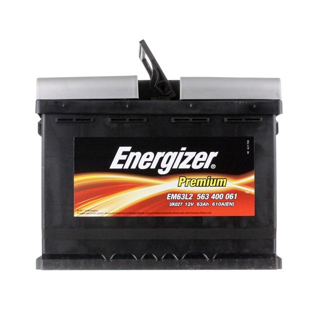 EM63L2 ENERGIZER PREMIUM Batterie-Kapazität: 63Ah Kälteprüfstrom EN: 610A, Spannung: 12V, Polanordnung: 0 Starterbatterie EM63-L2 günstig kaufen