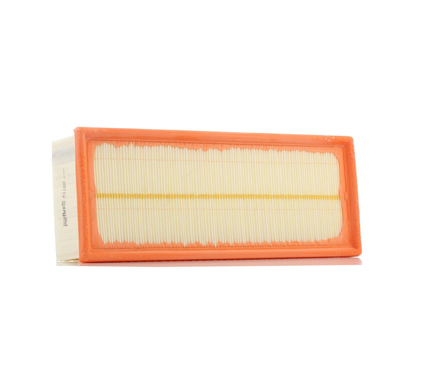 Achetez Filtre à air PURFLUX A1160 (Longueur: 345mm, Longueur: 345mm, Largeur: 135mm, Hauteur: 70mm) à un rapport qualité-prix exceptionnel