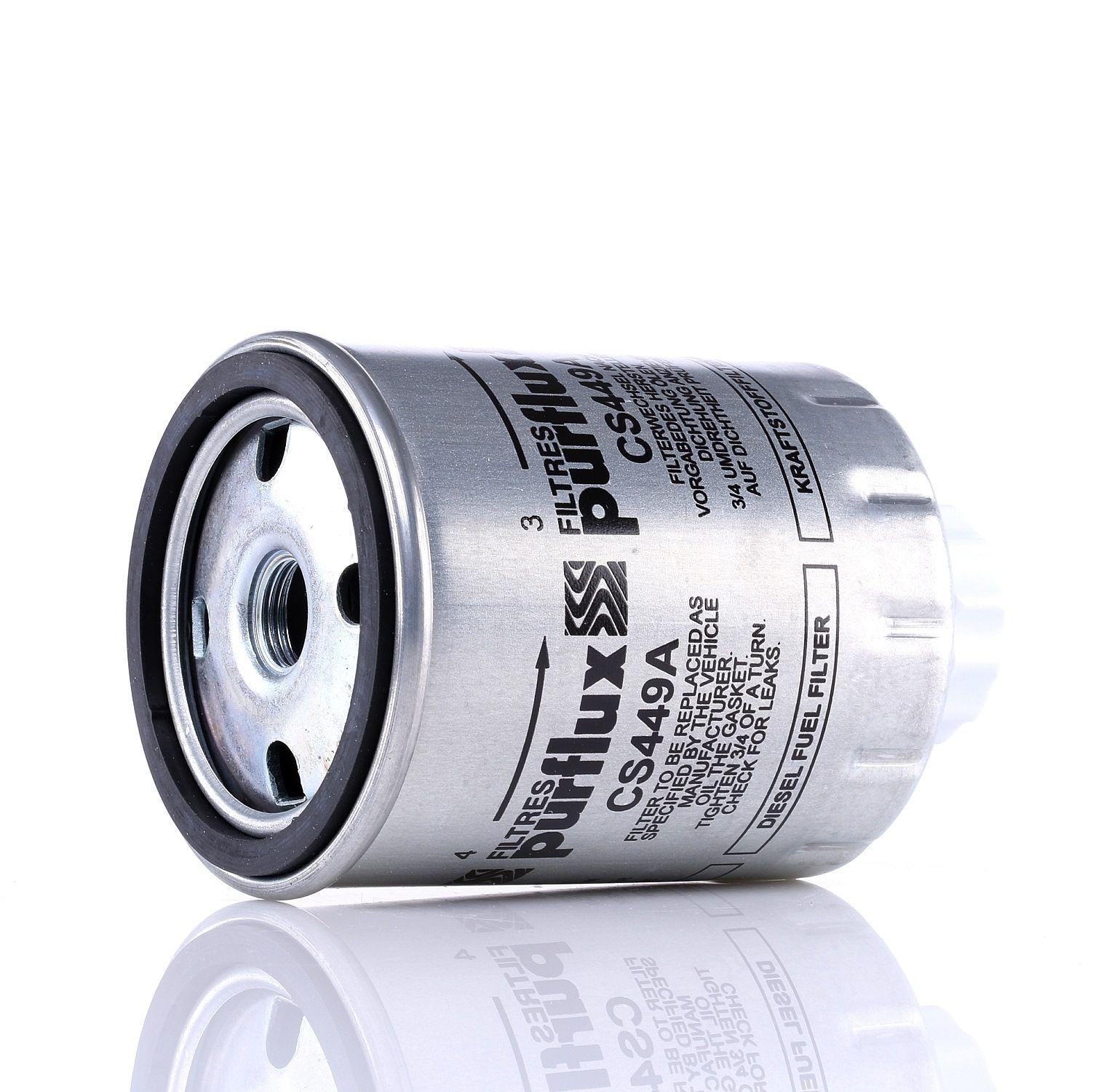 Pieces d'origine: Filtre à carburant PURFLUX CS449A (Hauteur: 122mm) - Achetez tout de suite!