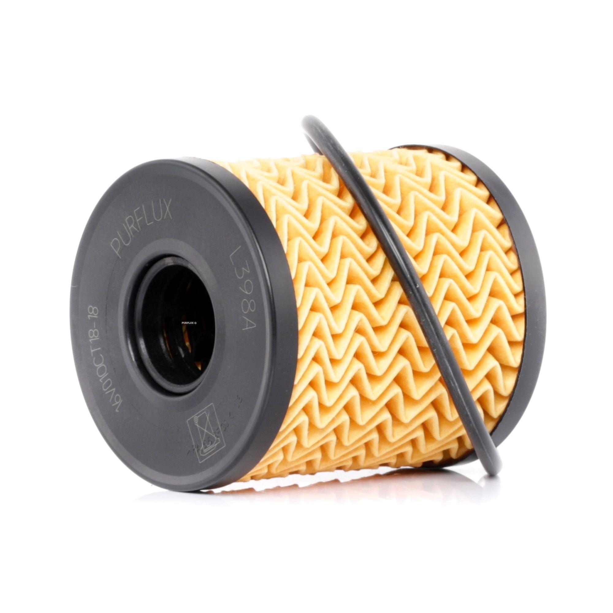 Origine Filtre à huile PURFLUX L398A (Diamètre intérieur: 24mm, Ø: 65mm, Hauteur: 69mm)