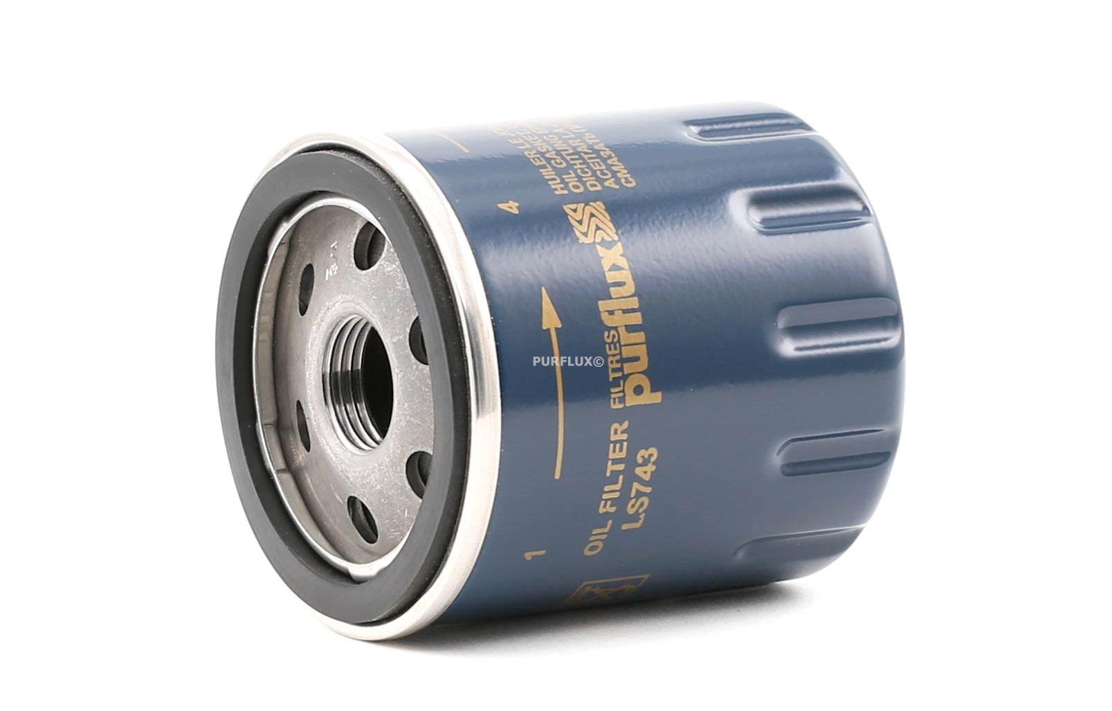Pieces d'origine: Filtre à huile PURFLUX LS743 (Ø: 66mm, Hauteur: 76mm) - Achetez tout de suite!